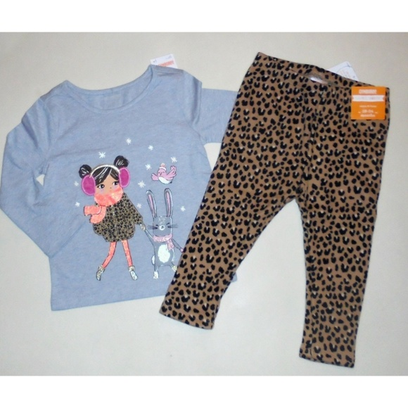 NEW Gymboree Girls Outfit Bunny T-shirt matching Leggings 12-18 18-24 2T 3T 4T